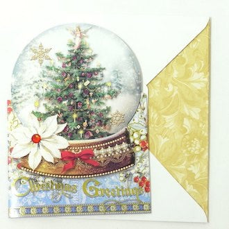 Snowglobe Christmas Greetings Card