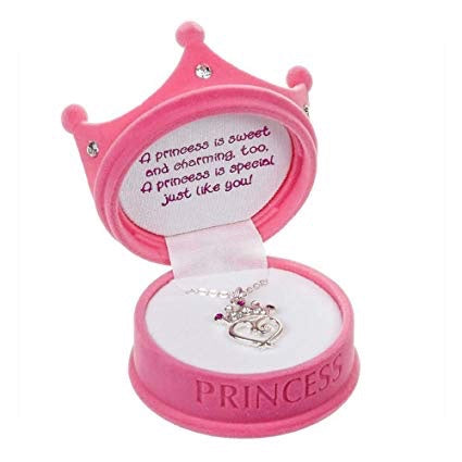 Princess Crown Necklace with Box