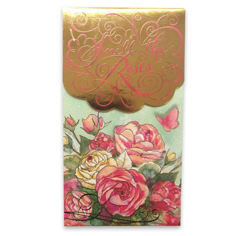 Large Pocket Notepad - Smell the Roses