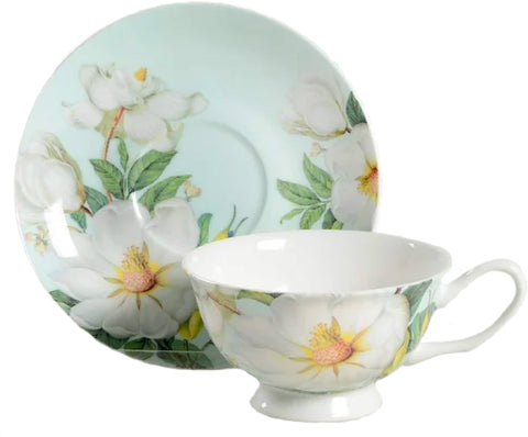 Magnolia Teacup and Saucer