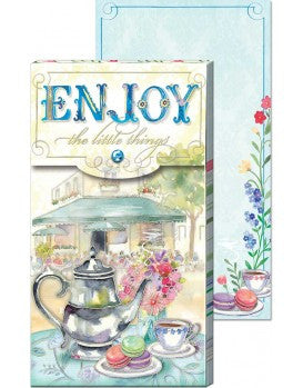 Enjoy Tea - Large Pocket Notepad