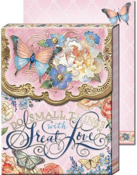 Do Small Things with Great Love  (pink) Pocket Notepad