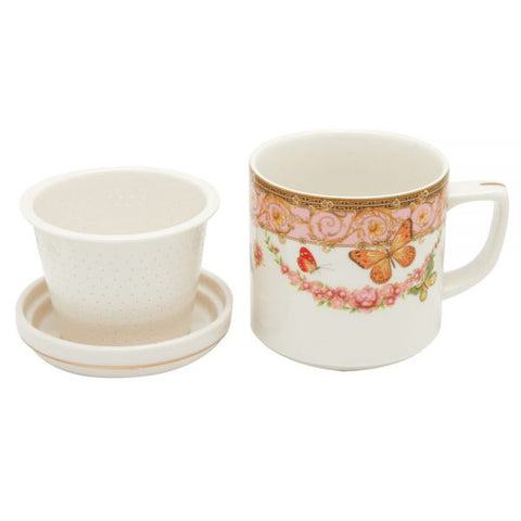 Tea For Me 3 piece pink butterfly
