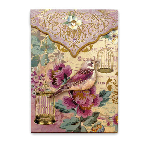 Pouch Notecards - Lilac Birdcage