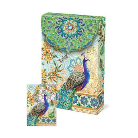 Pouch Notecards - Royal Peacocks