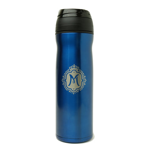 Queen Mary 12oz Travel Mug - Blue