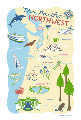 Tea Towel - The Pacific Northwest
