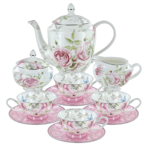 Beau Rose Bone China Tea Set