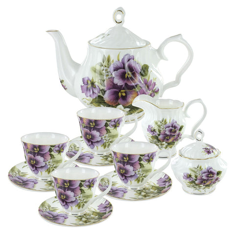 Pansy Tea Set