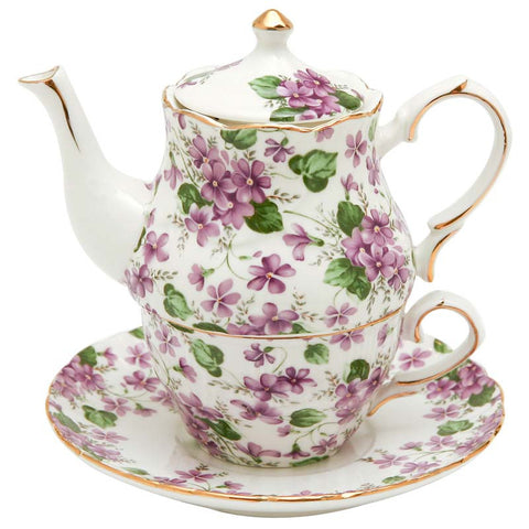 Violet Chintz Tea for One