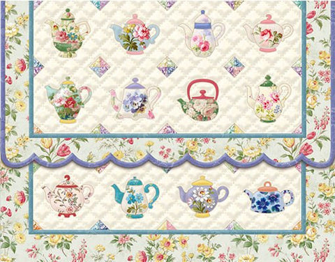 Teapot Quilt Note Card Set