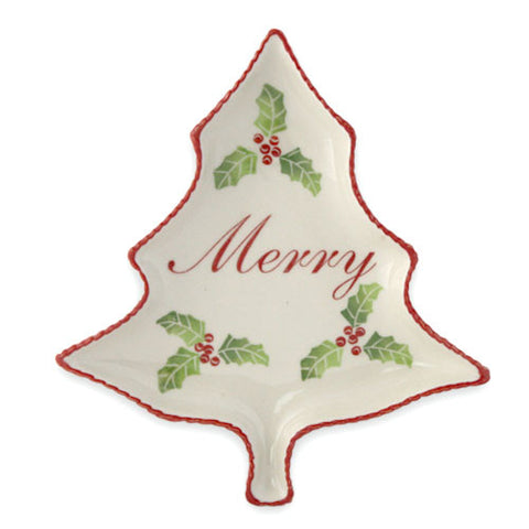 Christmas Tree Plate - Merry