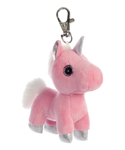 Pink Blossom Unicorn Clip On Keychain