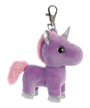 Purple Bonbon Unicorn Clip on Keychain