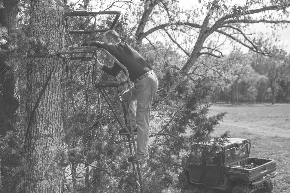 Old way of installing a tree stand