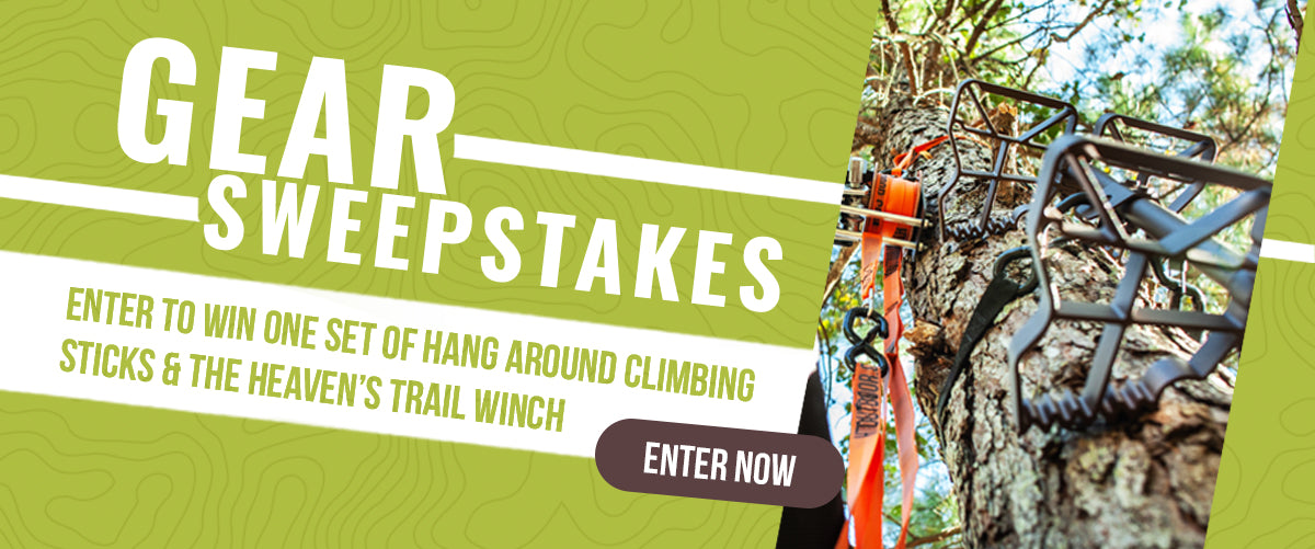 Enter to win one set of hanging around climbing sticks & heaven's trail winch. Enter Now