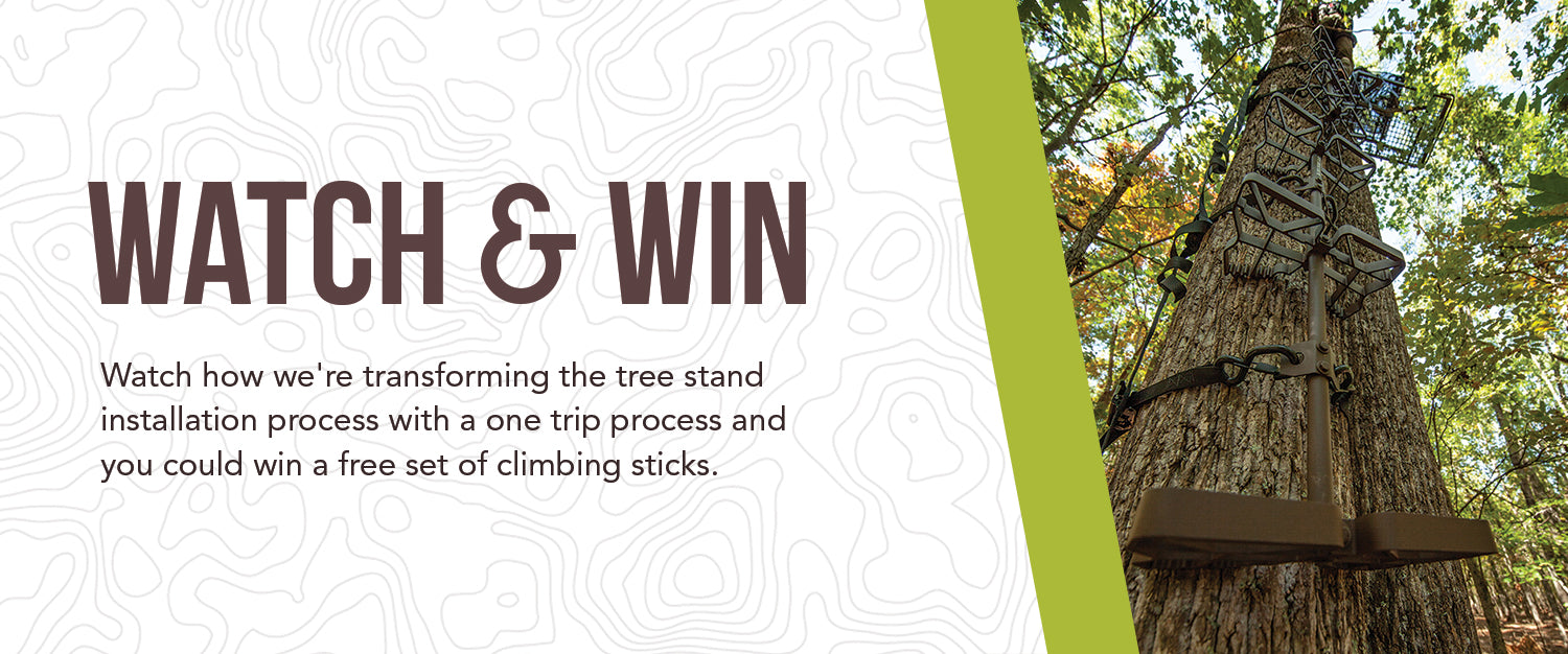 Watch and Win: Watch how we're transforming the tree installation process with a one trip process and you could win a free set of climbing sticks.