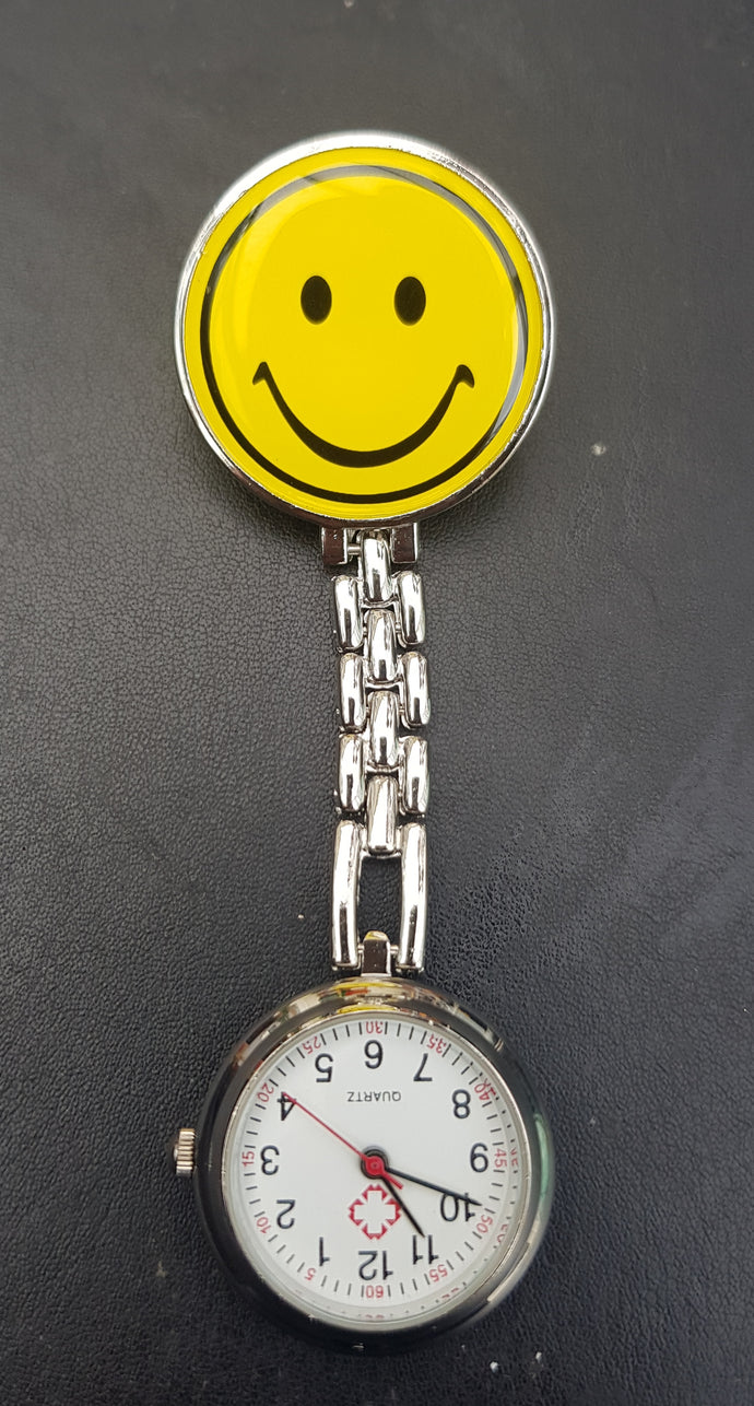 Yellow smiley face nurses fob watch