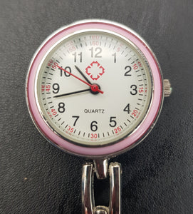 pink faced nurses fob watch