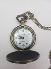 Load image into Gallery viewer, Slytherin cheap pocket watch open
