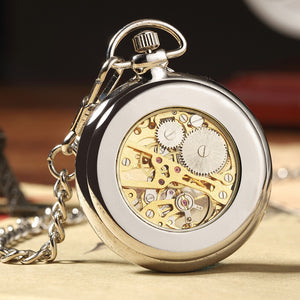 modern gold pocket watch back