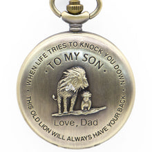 Load image into Gallery viewer, Father to son gold pocket watch