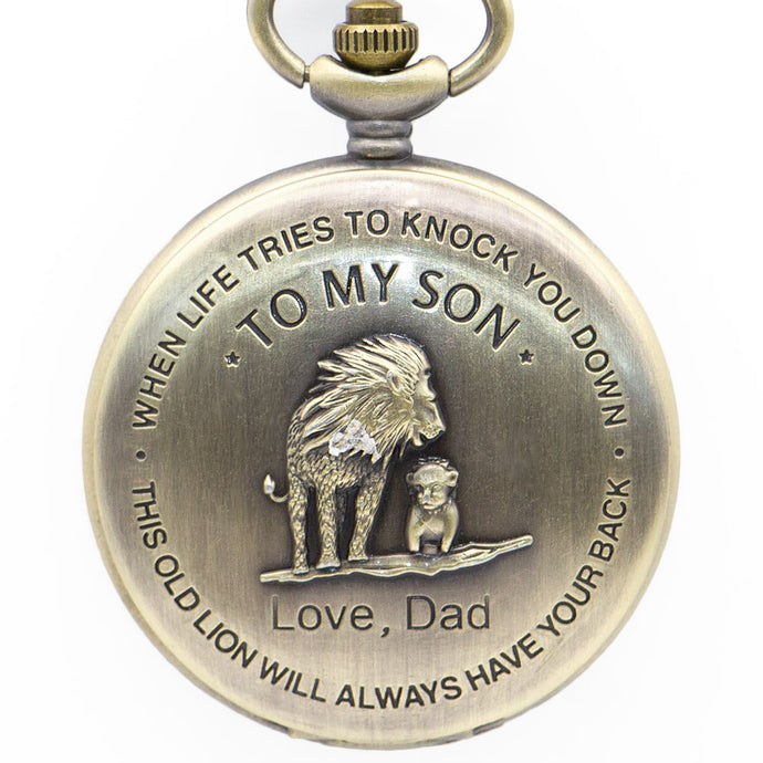 Father to son gold pocket watch