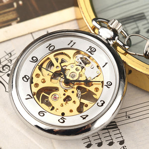gold trimmed modern pocket watch