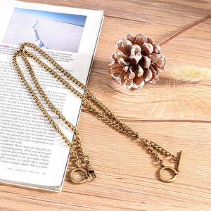 lay down gold pocket watch chain