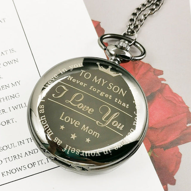 From mother to son gold pocket watch