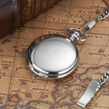 Load image into Gallery viewer, modern silver pocket watch with a closed front