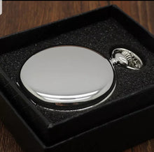 Load image into Gallery viewer, cheap silver pocket watch in a gift box