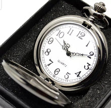 Load image into Gallery viewer, cheap silver pocket watch open