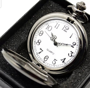 cheap silver pocket watch open