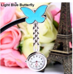 Blue butterfly nurses fob watch