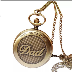 greatest dad gold pocket watch