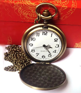 greatest dad gold pocket watch open