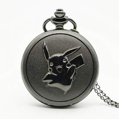 modern pikachu silver pocket watch