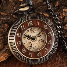 Load image into Gallery viewer, Modern pocket watch with a wooden front
