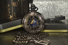 Load image into Gallery viewer, Modern pocket watch with blue hands