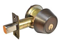 LSDA G2 SINGLE CYLINDER DEADBOLT KW1 ADJ BS UL DKBRZ	105922