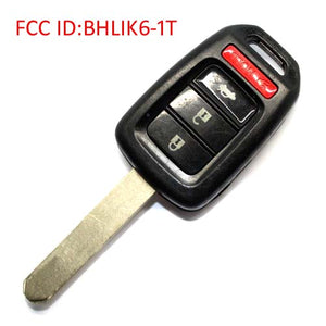 Honda 3+1 Button Remote Key BHLIK6-1T 313.8MHz FCC ID:BHLIK6-1T IC:2500A-HLIK61T MODEL No.HLIK6-1T