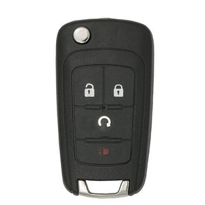 CHEVROLET 2012-2016  FLIP KEY 4 Button Flip Key(Panic, Lock, Unlock, and Remote Start) GM Part Number 13579216 FCC ID# KR55WK50073