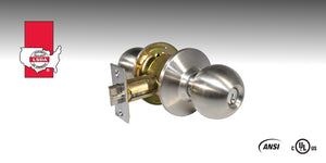 LSDA 100 Series Grade 2 Knob Locksets feature cylindrical construction for use on a variety of commercial doors.