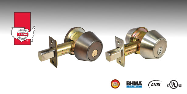LSDA 260 Series Heavy-Duty Deadbolt is a deadbolt with a removable shroud which surrounds the latchbolt and a free-spinning solid metal collar encases the cylinder, resisting most physical attacks.
