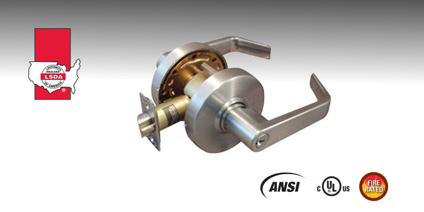 LSDA 5000 Series Cylindrical Lever Lockset is a heavy-duty lock designed for high traffic applications and ADA compliance.