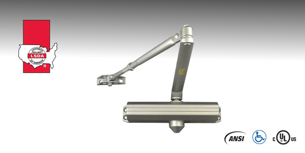 LSDA DC914 Series Surface Door Closer is a commercial closer designed to retrofit the most popular closer door preparation.