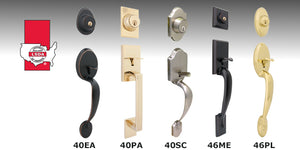 LSDA 40/46 Series Handlesets are selections of attractive and secure handlesets for residential entrances.