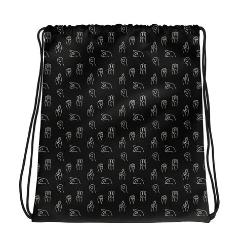POWER (ASL) • drawstring bag