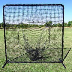Sock Net Baseball Softball Practice 7' X 7' With #42 Quality Net And Heavy Frame